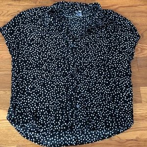 H&M polka dotted striped blouse